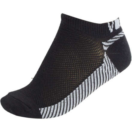Skateboard It's OK to wear the Volcom Work It Out Athletic Ped Sock places besides the gym. But it's not OK to wear them on your ears and run around the mall screaming bloody murder. Just thought we'd clear that up. - $4.73