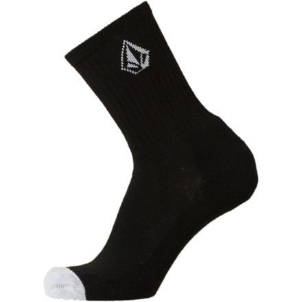Skateboard Contrary to what you think, no one else is OK with basking in the stink of your no-sock-wearing feet. Snag the Volcom Men's Full Stone Sock and save everyone some unnecessary pain. A stretchy cotton blend allows your foot to move naturally while you skate to the corner store or walk the cursed halls of school. - $7.61