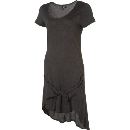 Entertainment Feeling knotty Tie the long sections of the Volcom Knotty Girl Dress's high-low hem together in the front for an unexpected twist. Feeling nice Leave the hem untied for a cool, drapey shape. - $17.98