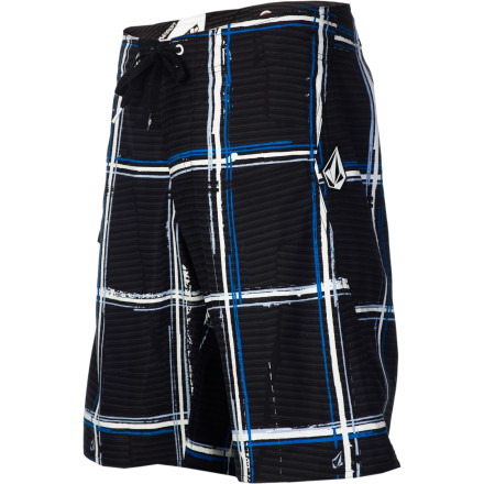 Surf The Volcom Maguro Plaid Board Shorts' soft, suede-like material means you won't get a rash on your knees, like the one you can get from inferior board shorts. The Maguro also features a unique plaid print that won't assault your eyes\227which is also a common trait among inferior board shorts. - $24.72