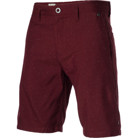 Surf Whether you're outside enjoying the fresh air or you've locked yourself inside with your video games, you'll appreciate the unique fabrication and soft material of the Volcom Fruckin Nuts Short. - $32.97