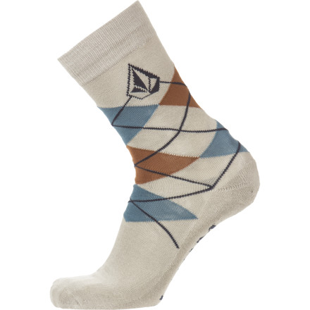 Skateboard Match the Volcom Men's Argyle Socks with a fine pair of freshly-pressed slacks and your finest sweater vest. A little stretchy and supremely comfortable, these socks keep your feet in fine shape so you can two-step down to the bus stop everyday. - $7.77