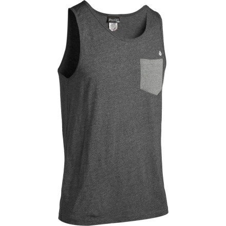 Surf When you first slip on the Volcom Calhoun Pocket Tank Top, its small chest pocket might not seem to fit anything. But once you're on a beach late at night with a willing companion, you're gonna wish you had something in that little pocket. - $14.97