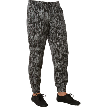 Surf Do not wear the Volcom Women's Easy Tripper Pant if you have big plans for the day, with multiple places to go and people to see. This relaxed rayon challis pant features encased elastic at the waist and ankles for an easy fit that will make it hard for you to bring yourself to leave the comfort of your pillow-strewn lounger. If you do manage to break free, the most you can probably manage will be a leisurely trip to the coffee shop or a sunny stroll along the beach. - $20.81