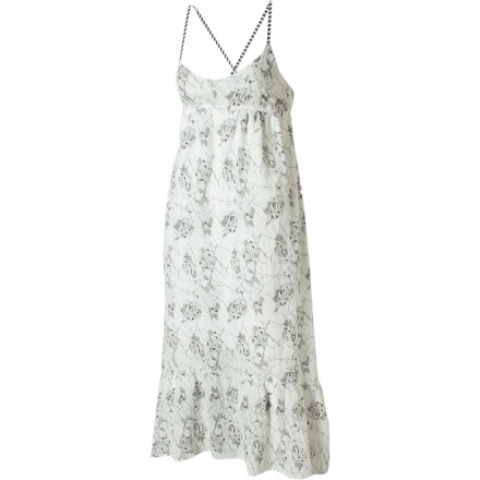Entertainment The Volcom Catalina Rose Maxi Dress uses ephemeral cotton gauze and a vintage print to create a look that is a summery and as fresh as an afternoon picnic. Pour yourself some sweet tea to sip while you snack on cucumber sandwiches and lie in the shade. - $29.73