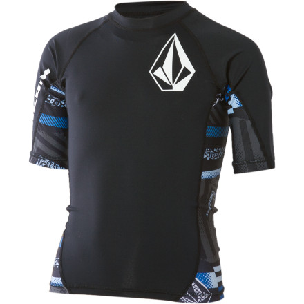 Surf You can ride the waves or hang out on the beach for hours without paying the price later when you're wearing the Volcom Boys' Mag Short-Sleeve Thrashguard. This super-stretchy, comfortable shirt protects you from chafing and sunburn while looking pretty rad, too. - $27.95