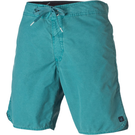 Surf Volcom's Scalloped Board Short is not made from seashells, we promise. In fact, in addition to not being made from seashells, it's comfortable enough to accommodate a rigorous wave session followed immediately by alcohol-induced sand naps. - $30.22