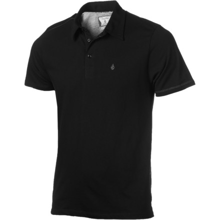 Surf The Volcom Bangout Polo Shirt's comfy cotton fabric and streamlined slim fit keep you looking good from Casual Friday at work to Throw-Up Thursdays at your favorite happy-hour spot. - $27.96