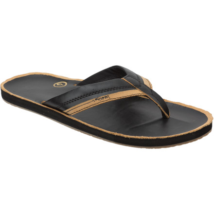 Surf The Volcom Grinds Creedler Sandal delivers comfort so luxurious, your feet will feel like they've been dipped in a pool full of silk, kitten whiskers, and pillow-top mattresses. - $22.48
