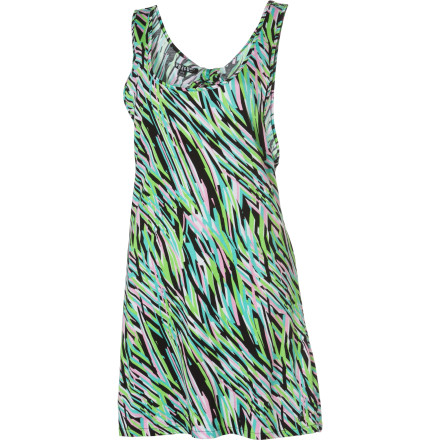 Entertainment Slide the Volcom Women's Break It Up Dress over your swimsuit before you head to the arcade to escape the heat and relax in cooler temperatures. - $19.73