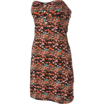 Entertainment The Volcom Hey Poppy Dress features a flattering tube shape, a lively print that reflect the colors of summer, and attention to detail such as metal buttons and branded embroidery. - $22.48