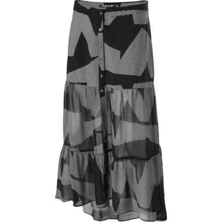 Surf The Volcom Strangler Skirt throws out an artistic, sexy look that is great for art festivals and sandaled walks through the park. - $20.81