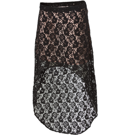 Surf Being love struck can wait. Summer love can mean being smitten by sunsets, cool breezes, and sand between your toes. Welcome summer with open arms and the high-low silhouette of the Volcom Lace Struck Skirt. - $12.36