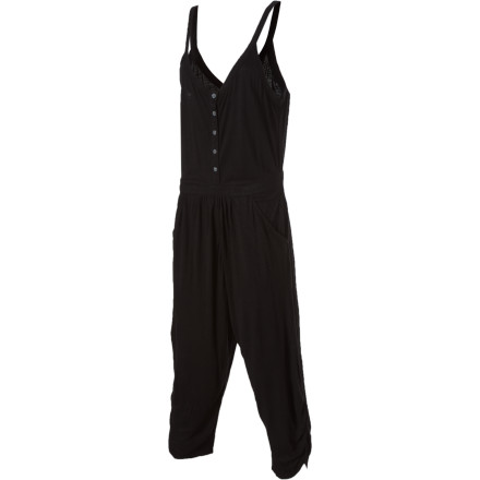 Surf The longer you take getting ready, the less time you'll have to get the party started. The Volcom Women's Wish Wash Romper is an instant outfit so you can spend more time pre-drinking and less time rummaging through your closet. - $32.97
