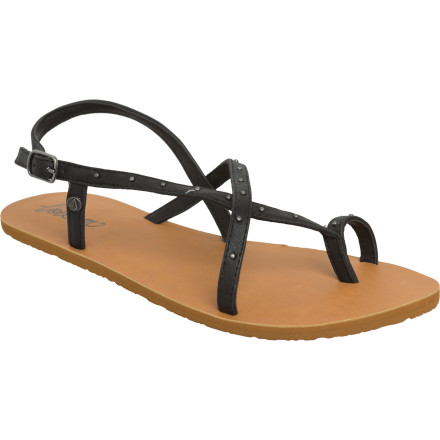 Entertainment Crazy town is a place where sunsets last longer, the pavement is smooth for cruising on your longboard, and if you you decide to wear footwear of any kind, the Volcom Women's Crazy Town Creedler Sandal is all you'll ever need. - $15.98