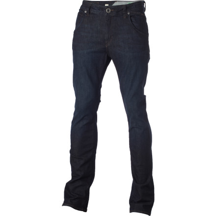 Surf The Volcom Nova Denim Pant rocks a modern slim straight fit that's tailored but not tight. - $64.95