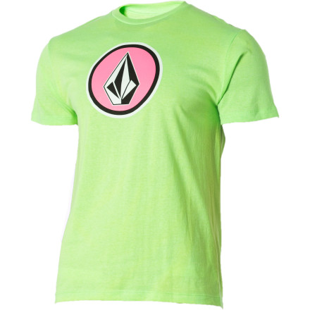 Surf The Volcom Neon Cognito T-Shirt might match your usual outward appearance, but if you add a fake mustache, glasses, top hat, cane, and suspenders, then you might actually be able to hide your identity. - $11.97