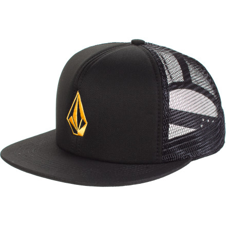 Surf Think trucker hats are lame Got news for ya ace: trucker hats think you're lame. Except for the Volcom Full Stone Cheese Trucker, because it's not a hater. - $16.46