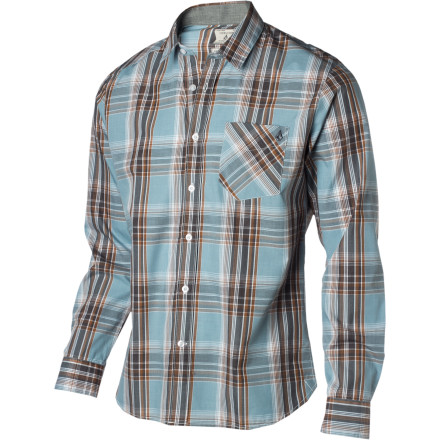 Surf The Volcom X-Factor Plaid Shirt may be the missing piece of the puzzle to break your extended streak of strike-outs with The Ladies. The long-sleeve slim cut, asymmetrical back yoke, and logo embroidery show off your refined side and provide a glimmer of libido-quenching hope, until you slip up and mention the 'Witches, Warlocks and Wieners' convention you're attending next weekend. - $37.46