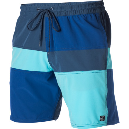 Surf The Volcom Fun Da Mental Too Board Shorts are not for the faint of heart. Or more specifically, the faint of tan. Make sure you've gotten some sun on your legs before picking up these 17-inch-inseam wonders. - $30.22