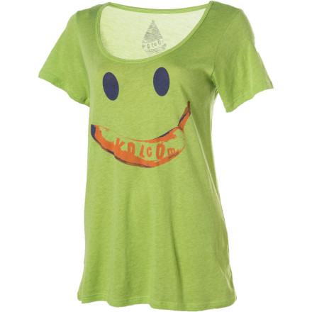 Surf Volcom Just Face It Boyfriend Short-Sleeve Crew - Women's - $14.97