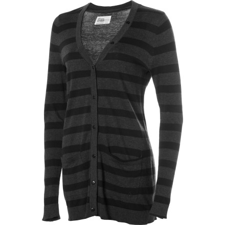 Surf Soft organic cotton, a modern length, and overall sophisticated style make it hard not to be smitten over the Volcom Women's V.Co Loves Sweater Cardigan. - $32.70