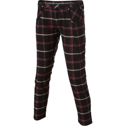 Surf Make your presence known when you wear the Volcom Women's Mad Plaider Pant for a night out on the town. A vibrant plaid print gives this pant a unique look and, despite the slim fit, the Mad Plaider has plenty of flexibility so you can dance your heart out. - $25.98