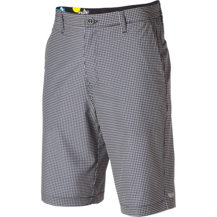 Surf Stretch fabric might not be your first requirement for a relaxed-fit, casual short, but after a summer day wearing the Volcom Men's Frickin V4S Short, you won't want to wear anything else. A clean, casual style means you can wear this chino short when Mom visits in July, and when you're tired of your board shorts, you could even surf in this quick-drying hybrid walk/boardshort. - $26.98