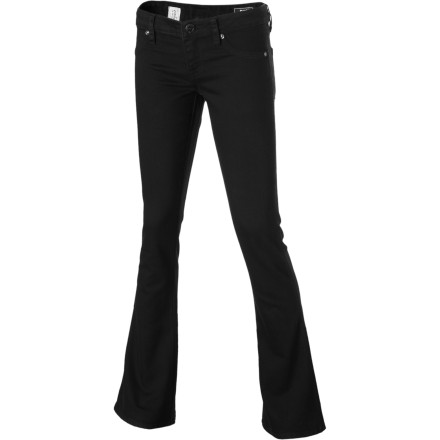 Surf The Volcom Pistol Skinny Flare Denim Pant features the fit and stretch you love about leggings, and Volcom injects an extra dose of fashion into the Pistols by flaring out the hems. Bonus: you also get to keep your belt loops and button closure. - $29.73