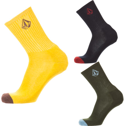 Skateboard Volcom Solid Sock - 3-Pack - $17.97