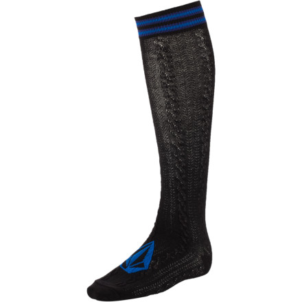 Surf Volcom Nerd Alert Knee High Sock - $7.17