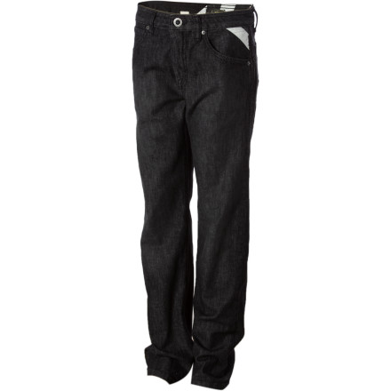 Surf You raised your boy right. He listens to rock'n'roll, minds his mother, and wears the Volcom Boys' Enowen Denim Pant for school days and skate sessions. - $43.46