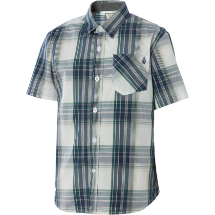 Surf Get your kid started on the path to future player-dom with the Volcom Ex Factor Plaid Shirt. - $15.98