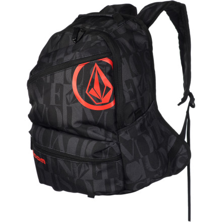 Snowboard The Volcom Kids' Three Quarter Backpack is just the right size for smaller shredders who need ample space and secure storage for books and lunch during the week, as well as plenty of gear and food for weekend sessions. - $24.47