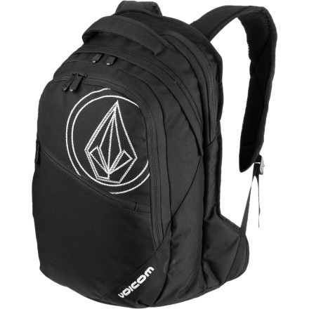Camp and Hike It's 2012, nobody expects you to whip out a feather, ink, papyrus, and then start scribing ... they expect you to pull a fancy laptop from the designated pocket in the Volcom Quill Laptop Backpack and begin tapping like a hungry chicken in a pile of grain. - $38.47