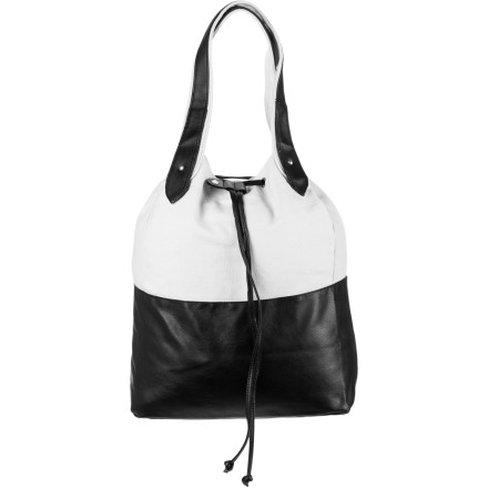 Fitness Get motivated first and then toss your yoga gear into the Volcom Women's Blockhead Tote Bag. - $26.97