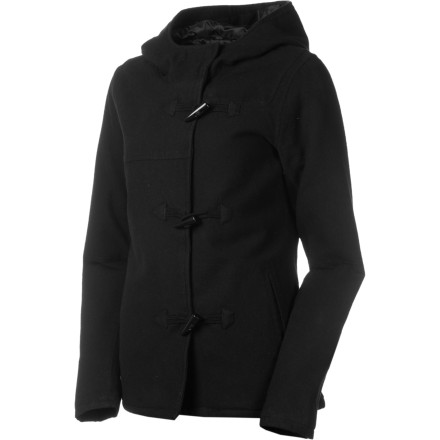 Surf The Volcom Women's Preps Cool Toggle Jacket does more than keep you warm and cozy while you chat with your friends during your high school football or soccer game. It also gives you a classic, cool appearance that looks good whether you're dressed up or in jeans or leggings. - $62.62