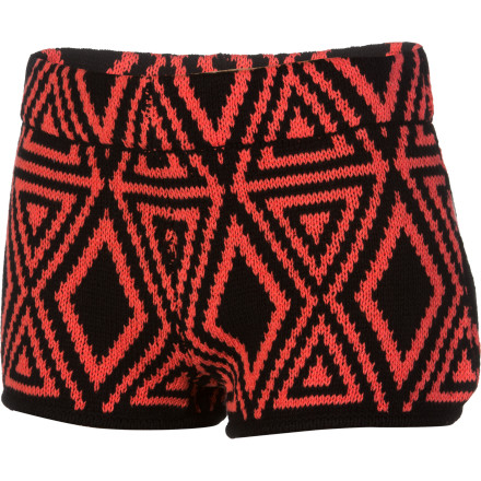 Surf When it comes to clothing, playing it safe will leave you unnoticed and unremembered. The Volcom Women's Machu Peaches Shorts serve up South American realness, booty-short style. Wear these when you want to show off your legs and make a statement. - $24.73