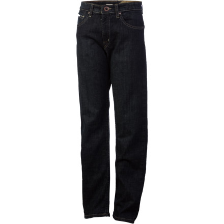 Surf Once your school-aged cowboy slips on the Volcom Boys' Black Bart Denim Pant, all he needs is a ten-gallon hat, boots, and a chip on his shoulder to walk the halls like the gentleman bandit he aspires to be. - $23.18