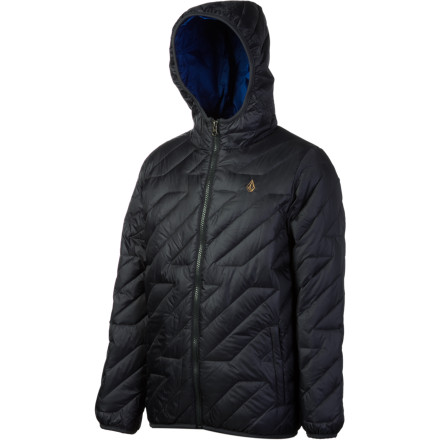 Surf You can wear the Volcom Hooded Puff Jacket as a super-warm mid-layer or as a stylish stand-alone jacket. Warm duck down insulates naturally, and the jacket stuffs into its own interior pocket so you can use it ass a comfortable travel pillow. - $53.98