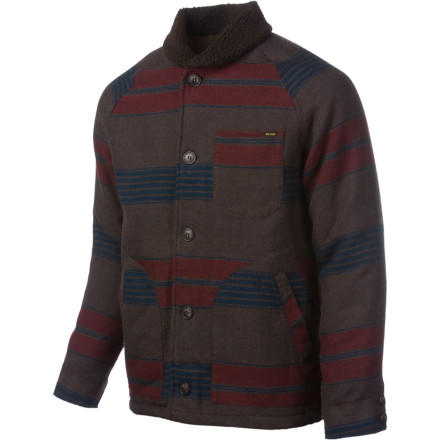 Surf Button up in your Volcom Ranchero Jacket and giddyup your horse down to the saloon. This jacket will give you an old-school western look that looks good whether you're playing poker over whiskey or riding off into the sunset. - $59.98