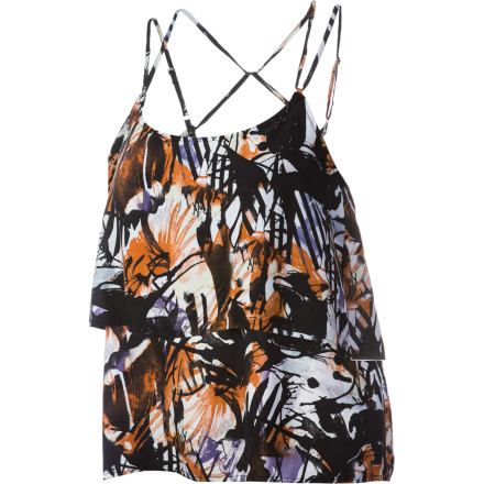 Surf Slip on the Volcom Women's Mag Pie Tank Top, touch up your makeup, and get ready for a night of bootie-shakin' with the ladies. - $17.75
