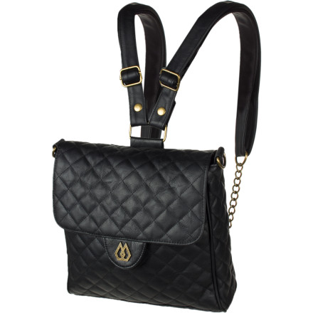 Surf When you're checking out the city sights, use the Volcom Women's Haute Stones Convertible Bag as a backpack for a no-fuss look. If you plan on grabbing some wine and apps with the girls, the Haute easily transfers into a hip, upscale shoulder bag. - $35.72