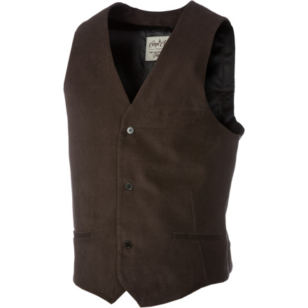 Surf Put on the Volcom Dapper Stone Suit Vest and take the world by storm (it also helps to wink, smile, and point at all your victims). Perhaps you're getting hitched, have some hot theater tickets, or just feel the need to show the world how much of alethalgentlemen you really are. - $35.16