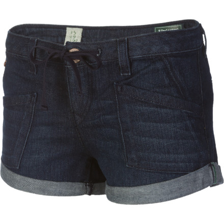 Surf The slim-fitting Volcom Women's V. Co Denim Short saves the earth one jean at a time and gives you a killer look that you can lounge, hang, and party in all summer long. - $25.98