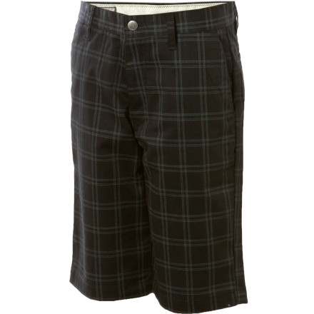 Surf Junior will love the Volcom Frickin Plaid Chino because they will help keep him comfortable while he's out exploring, and mom will appreciate that the plaid print helps hide all the dirt stains her little boy picked up while stuffing their pockets full of worms and dead bugs. - $21.70