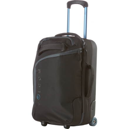 Entertainment The clothing, shoes, and gear hauler is called the Volcom A2 Rolling Gear Bag, but you should be called Ace-to-the-second-power for looking so smooth as you roll through life in style. - $125.62