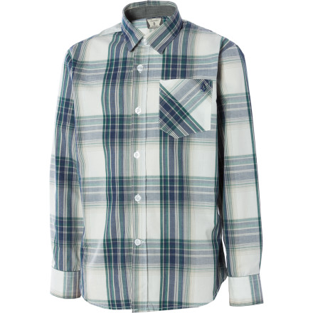 Surf Volcom Ex Factor Long-Sleeve Plaid Shirt - Little Boys' - $9.99