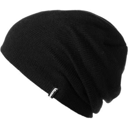 Snowboard Even though Volcom made the Woolcott Beanie with recycled plastic bottles, we don't recommend drinking out of it. Not only are the bottles no longer water tight, but we also have it on good authority that you only wash your hair once a month. - $11.97