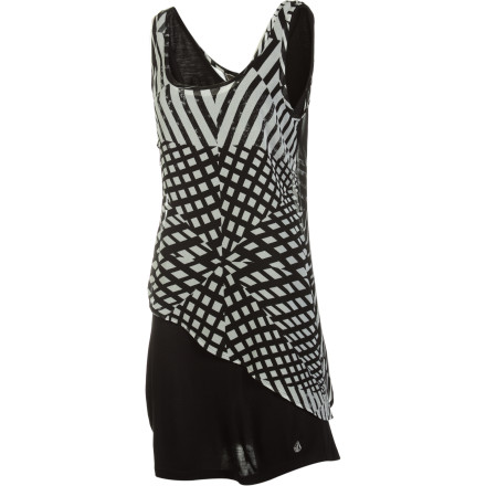 Entertainment Normally you're a boardshort-and-tee gal, but since your BFF is throwing you a formal b-day party, you may as well make heads turn with the Volcom Women's Sneak Peek Dress. - $53.51